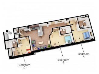 C4 Floor plan layout