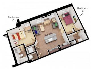 B6 Floor plan layout