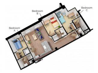 C3 Floor plan layout