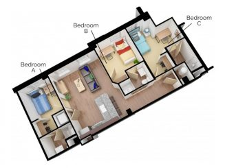 C3 Floor plan layout