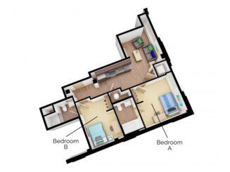 B3 Floor plan layout