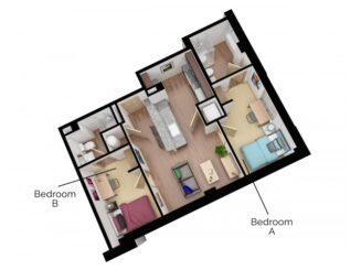 B2 Floor plan layout
